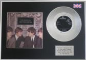 "THE BEATLES - 7"" Platinum Disc + cover - I WANT TO HOLD YOUR HAND"